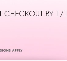 AT CHECKOUT BY 1/18