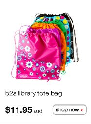 b2s library tote bag $11.95aud - shop now >