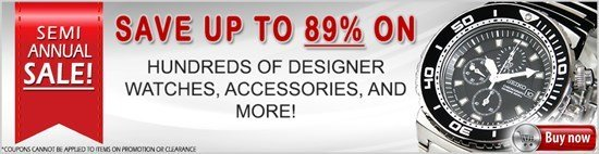 Up to 89% Off - The Semi-Annual Sale is Here! HUGE Savings on all of the Hottest Brands