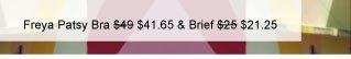 Freya Patsy Underwired Plunge Balcony Bra was $49 now $41.65 & Brief was $25 now $21.25