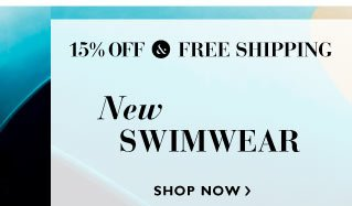 15% off and Free Delivery on New Swimwear