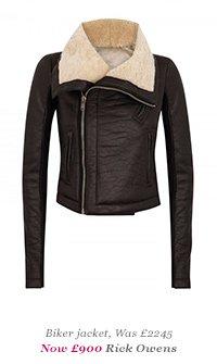 Biker jacket, Was £2245 Now £900 - Rick Owens