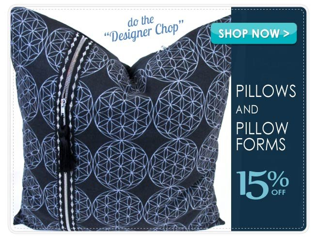 15% off Pillows and Pillow Forms