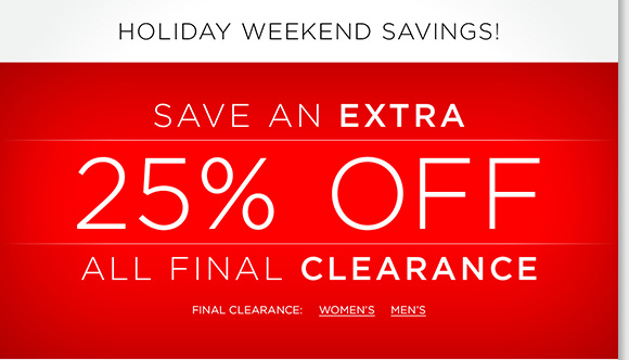 Now through Monday, save an extra 25% off ALL Final Clearance! Find great styles and limited quantities from UGG® Australia, Raffini, ABEO, Dansko and more of your favorite brands! Shop now to find the best selection online and in stores at The Walking Company.