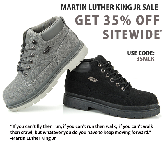 Lugz celebrates MLK JR Day with 35% Off Sitewide