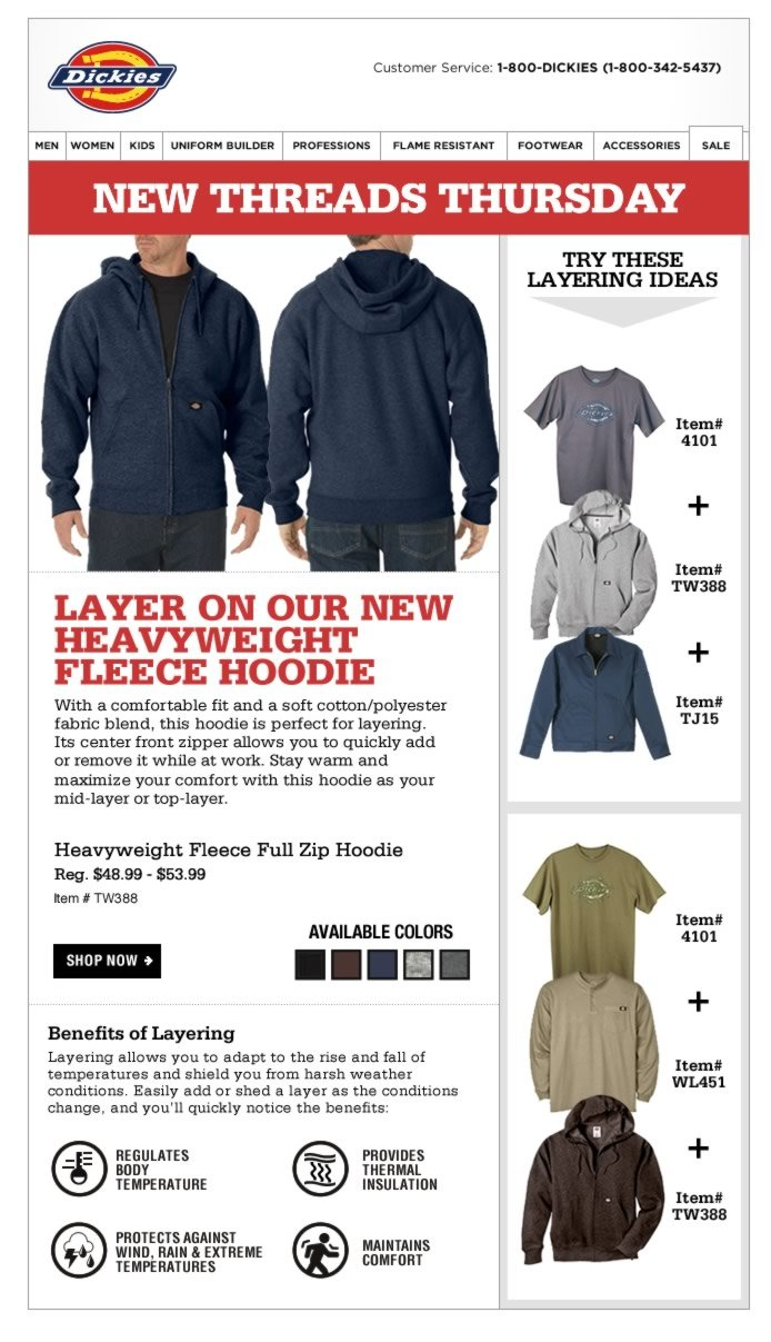 New Threads Thursday: Layer on our Heavyweight Fleece Hoodie