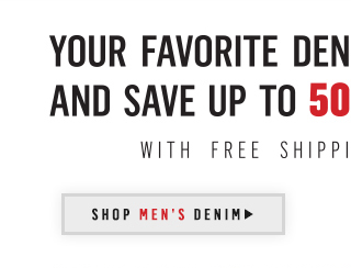 Your favorite denim is now 35 percent off and save up to 50 percent on select styles. Shop Mens Denim.
