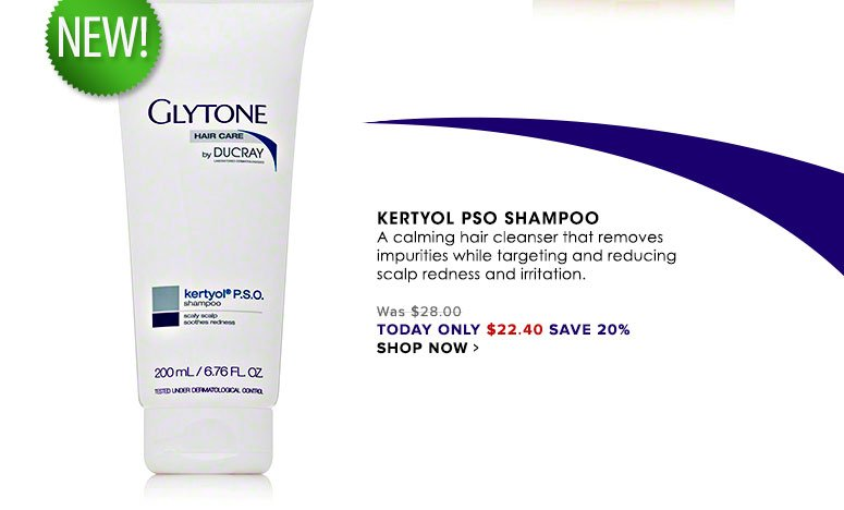 Kertyol PSO Shampoo A calming hair cleanser that removes impurities while targeting and reducing scalp redness and irritation. Was $28.00 Now $22.40 Shop Now>>