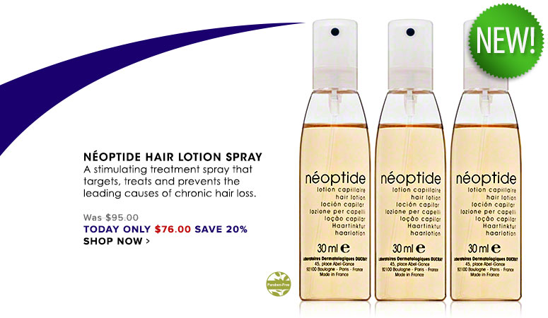 Neoptide Hair Lotion Spray A stimulating treatment spray that targets, treats and prevents the leading causes of chronic hair loss. Was $95.00 Now $76.00 Shop Now>>