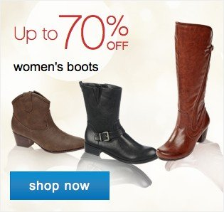 Womens boots up to 70% off. Shop now.