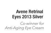 Avene Retrinal Eyes 2013 Silver