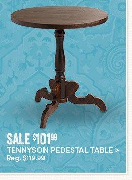 Tennyson Pedestal Table - Sale $101.99