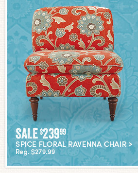Spice Floral Ravenna Chair - Sale $239.99