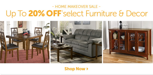 Home Makeover Sale - Up To 20% OFF+ select Furniture & Decor - Shop Now