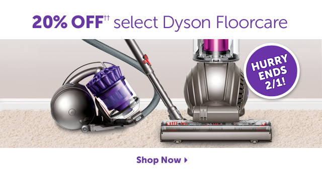 20% OFF++ select Dyson Floorcare - Hurry Ends 2/1! Shop Now