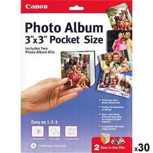 Adorama - Canon 3x3 Pocket Size Inkjet Photo Album with Software - Set of 30