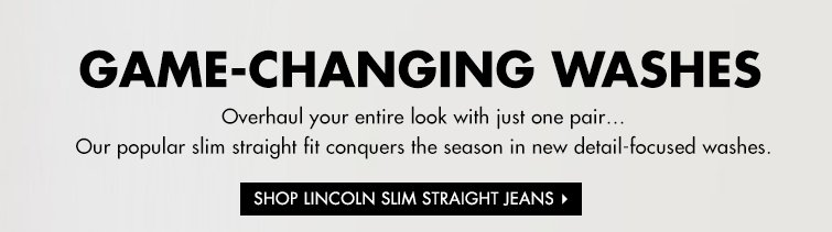 SHOP LINCOLN SLIM STRAIGHT JEANS