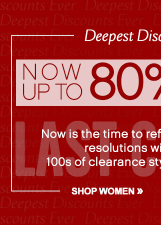 Up to 80% Off 100's of Styles