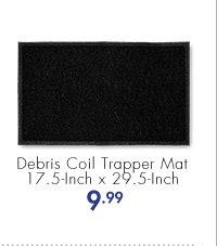 Debris Coil Trapper Mat 17.5-Inch x 29.5-Inch 9.99