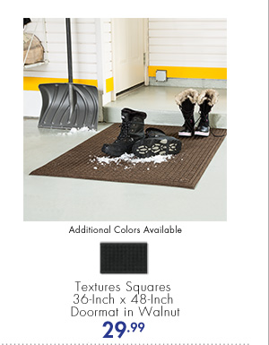Additional Colors Available Textures Squares 36-Inch x 48-Inch Doormat in Walnut 29.99