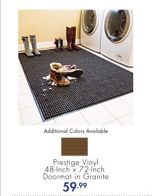 Additional Colors Available Prestige Vinyl 48-Inch x 72-Inch Doormat in Granite 59.99