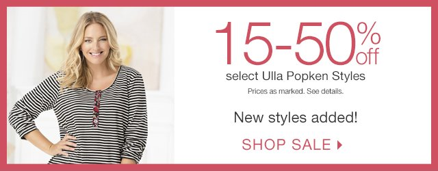 Shop 15-50% off select Ulla Popken Sale Styles!