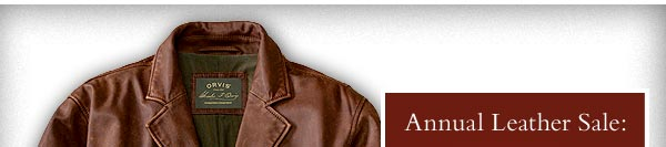 Annual Leather Sale: Save up to 30%