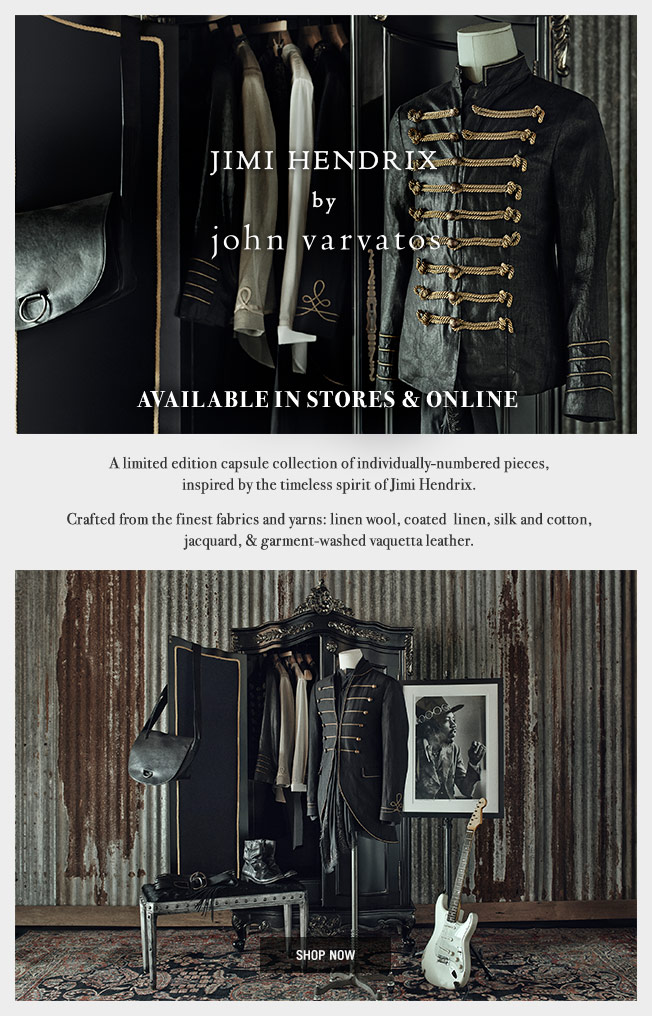 Jimi Hendrix by John Varvatos - Available In Stores & Online
