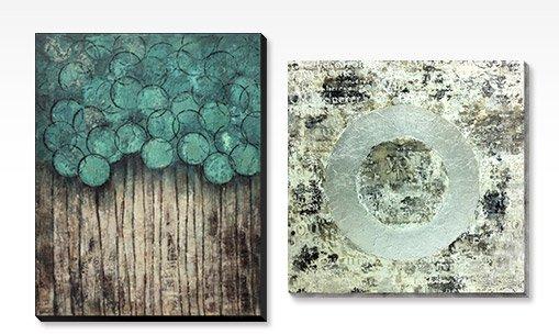 IMPULSE - AQUA; INNOVATION, Hand-painted Art
