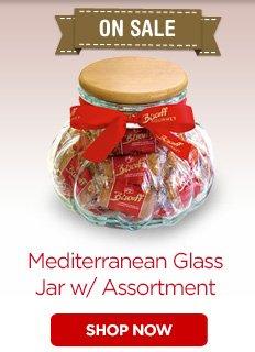 ON SALE - Mediterranean Glass Jar w/Assortment