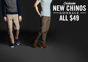 Shop New Goodale Chinos ALL $49
