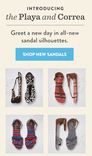 Introducing the Playa and Correa - Shop New Sandals