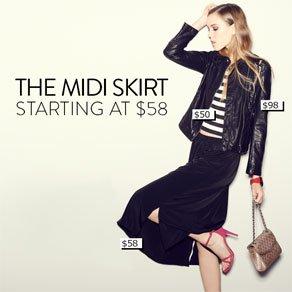 THE MIDI SKIRT - STARTING AT $58