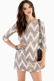 Sparkle in Time Shift Dress 47