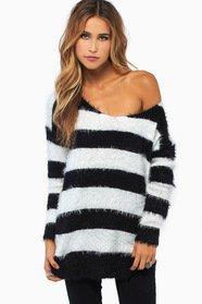 Fuzzy Striped Sweater 47