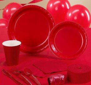 Classic Red (Red) Deluxe Party Kit