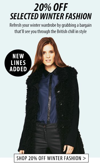 20% off Winter Fashion - Shop Now!