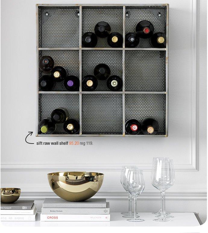 sift raw wall shelf 95.20 reg 119.