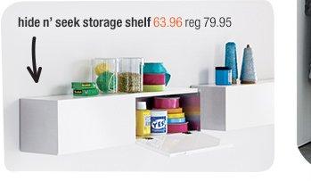 hide n' seek storage shelf 63.96 reg  79.95