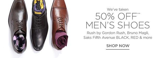 50% Off Men's Shoes