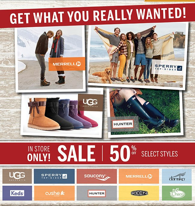 GET WHAT YOU REALLY WANTED | 50% Off Select Styles