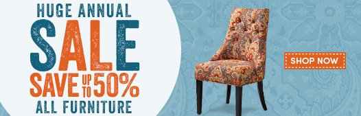 Save Up To 50% ALL Furniture