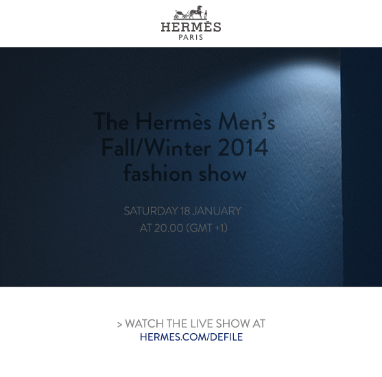 Watch the live show at hermes.com/defile