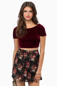 Dark Wonders Velour Crop Top 19