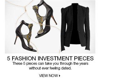 5  Fashion Investment Pieces