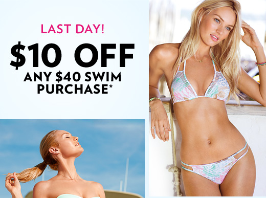 Last Day! $10 Off Any $40 Swim Purchase