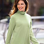 Ruched Neck Tunic, #614400