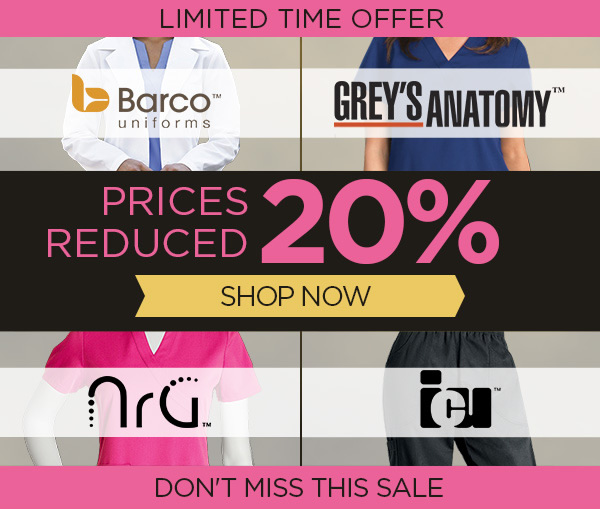 20% OFF Barco, ICU, NrG, and Grey's Anatomy - Shop Now