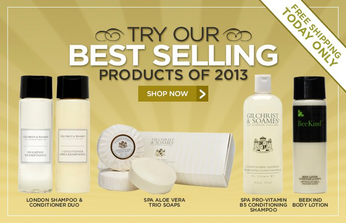 Explore our Best Selling Products and Receive Free Shipping on all Purchases, One Day Only!