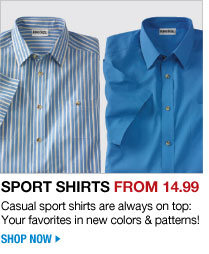 sport shirts from 14.99 - casual sport shirts are always on top: your favorites in new colors & patterns! - shop now